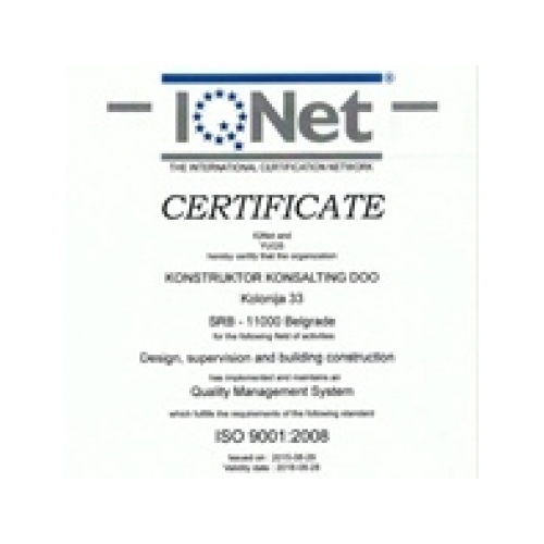 IQnet quality management system certificate, KKonsalting
