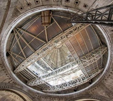 Steel structure at St Sava's Temple